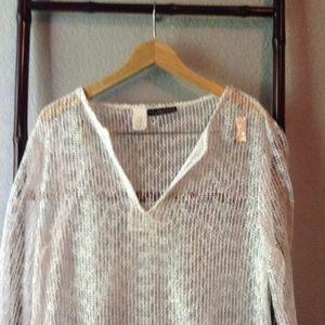 La Blanca- White Swimsuit Coverup Sequin Tunic
